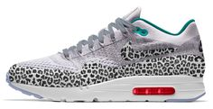 You can now make your own Nike Air Max 1 Ultra Flyknits with safari and cheetah prints. Air Max One, Nike Id, Nike Sportswear, Cheetah Print, Nike Free, Nike Air Max, Safari, Kicks, Sneakers Nike