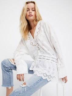 Sweet Sammy Jo Eyelet Tunic from Free People!