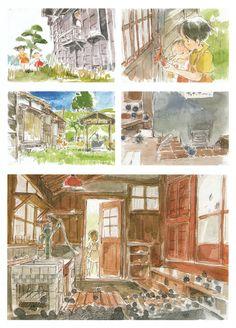 My Neighbor Totoro | Hayao Miyazaki | Studio Ghibli / Kusakabe Satsuki, Kusakabe Mei, and Kusakabe Tatsuo (Satsuki and Mei's Father)