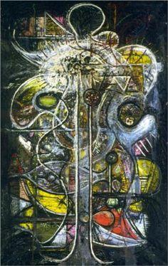 Comprehension of the Atom, Crucifixion - Pousette-Dart Richard Franz Kline, Jasper Johns, Robert Rauschenberg, Willem De Kooning, Richard Diebenkorn, Joan Mitchell, Jackson Pollock, Mark Rothko, Action Painting