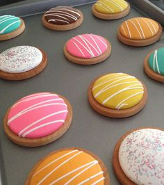 Wooden Play Food 12 Colorful Cookies by BYOImagination on Etsy, $16.00