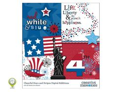 Cheerful Stars and Stripes Digital Additions Universal Format