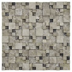 @Overstock.com - SomerTile Griselda Gaodi Emperador Natural Stone Mosaic (Pack of 10) - Bring the beauty of nature into any space with this natural stone mosaic set from SomerTile. In an interesting relief form, this mosaic features varying stone heights to create breath-taking depth and beauty.  http://www.overstock.com/Home-Garden/SomerTile-Griselda-Gaodi-Emperador-Natural-Stone-Mosaic-Pack-of-10/8231670/product.html?CID=214117 $203.99