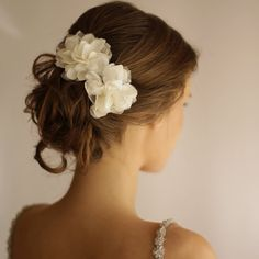 Wedding Hair Piece Vintage Lace Wedding Hair Flower by Florentes
