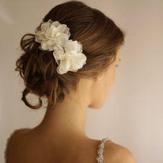 Wedding Hair Piece Vintage Lace Wedding Hair Flower by Florentes
