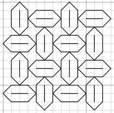 Graph Paper Drawings, Graph Paper Art, Easy Drawings, Blackwork Cross Stitch, Blackwork Embroidery, Cross Stitch Embroidery, Geometry Pattern, Pattern Art, Pattern Paper