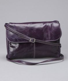 Take a look at this Purple Snap Flap Leather Mini Crossbody Bag by David King & Co. on #zulily today! $34 !!