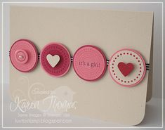 15 Minute Baby Girl Card by stamper272001 - Cards and Paper Crafts at Splitcoaststampers