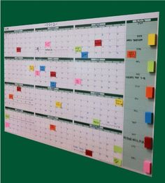 "Full Size Forever Yearly Wall Planner 24"" x 38"" - Dry Erasable …"