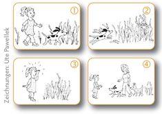 Wie Ihr Kind Bildergeschichten effektiv üben kann - Elternwissen.com English Story, Cycle 2, Kindergarten, Learning, Halloween, Kids, Alice, Blog, Autism