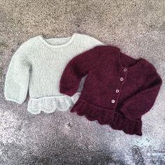 Knitting for Olive Poppycardigan - Mormorfabrikken Onesie Pattern, Tunic Pattern, Crochet Bebe, Crochet For Kids, Tricot Baby, Kids Winter Fashion, Rose Sweater, One Piece Suit, Baby Cardigan