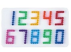 Hama Perlen Stiftplatte Zahlen von Hama