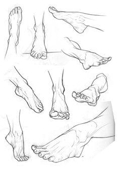 графические зарисовка ног.