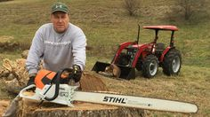 Stihl and Case- a great combination