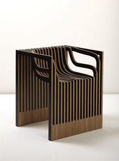 siège, bois, Impression-Chair-by-Julian-Mayor