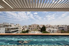Terrace Infinity Pool Tops Off A Classy Contemporary Home In Tel Aviv