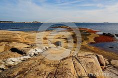 Photo about Grey and white coast rocks on Kragerofjorden in Kragero city Telemark, Norway. Autumn in Norway. Image of picturesque, norway, city - 45174047 Grey And White, Norway, Vectors, Coast, Sign, Stock Photos, Image, Free, Animals