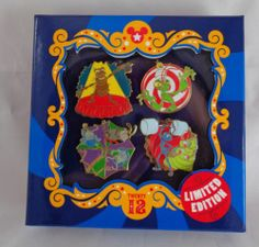 Mickeys Circus EVENT GOODBYE GIFT Disney PIN Set of 4 Pins IN BOX BUGS LIFE