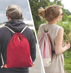Drawstring Backpack - free sewing instructions » myfabrics.co.uk