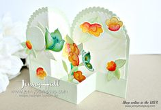 Layering Circles Double Z Fold box card created by Jenny Hall at www.jennystampsup.com for #cardmaking #handmadecard #stamping #stampinup #addinktivedesignteam #addinktivedesigns #serenegarden #watercolor #gardensceneframelits #softseafoam #rootedinnature #jennyhall #jennyhalldesign #jennystampsup #jennyhallstampinup #fancyfold #crafts #craftsforkids #lifestyle