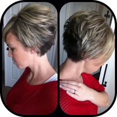 I think I want the back of my hair cut like this.: