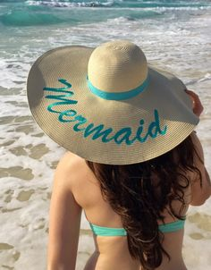The 2016 Summer TREND - Floppy Hats and we Just made them Better with our EXCLUSIVE designed Embroidery . Made to order so Reorders may not be available - Do your research - comparable hates are going