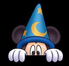 Sorcerer Mickey Hiding? What do you think he's afraid of? mouseears101.com