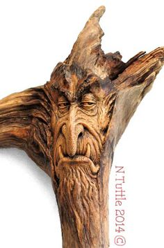A Fiendish Alliance by psychosculptor......wood carved driftwood