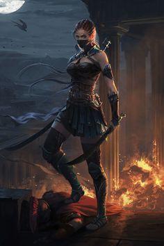 Dark Fantasy is the Best Fantasy Fantasy Warrior, Fantasy Girl, Warrior Girl, Dark Fantasy Art, Fantasy Women, Fantasy Artwork, Warrior Women, Anime Warrior, Anime Fantasy