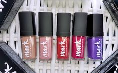 Avon mark. Liquid Lip Lacquer Matte and Shine swatches and reviews