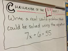 Math in the Middle: Challenge of the Week