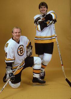 Rick Middleton and Ray Bourque | Boston Bruins | NHL | Hockey