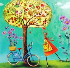 Счастье - это когда тебе ничего не нужно в данный момент, кроме того, что уже есть. Художник-иллюстратор Mila Marquis. Часть 1. Обсуждение на LiveInternet - Российский Сервис Онлайн-Дневников