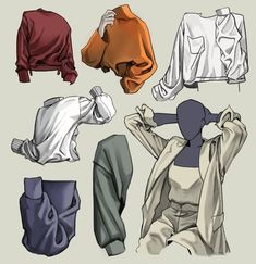 Drawing Clothes Ideas Super Ideas Drawing Clothes Ideas Super IdeasYou can find Anatomy drawing and more on our website. Drawing Reference Poses, Manga Drawing, Drawing Sketches, Anatomy Drawing, Shirt Drawing, Drawing Ideas, Drawing Art, Drawing Tips, Digital Painting Tutorials