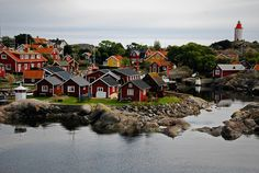 The little village at Landsort Island in the outer Stockholm archipelago, Sweden. A great place to stay a couple of nights and have a relaxing time.