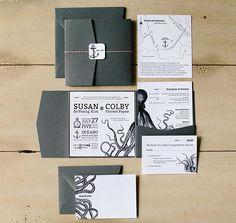 Susan Payne's award winning DIY wedding invitation