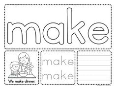 Sight words multi-sensory fun for every one. Build, Read, Trace, and Write! Pre-Primer Sight word activities for preschool, pre-k and kindergarten. Pre Primer Sight Words, Pre K Sight Words, Sight Words List, Sight Word Practice, Word Play, Playdough Activities, Sight Word Activities, Hands On Activities, Pre K Activities