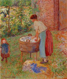 Washerwoman, Eragny - Camille Pissarro