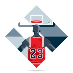 Designer Davide Mazzuchin was commissioned by Rivista Ufficiale NBA to create a series of Michael Jordan illustrations. Using MJ's character in video games. Michael Jordan Birthday, Michael Jordan Dunking, Michael Jordan Basketball, Indoor Basketball Hoop, Basketball Art, Basketball Pictures, Michael Jordan Poster, Michael Jordan Pictures, Sports Graphic Design