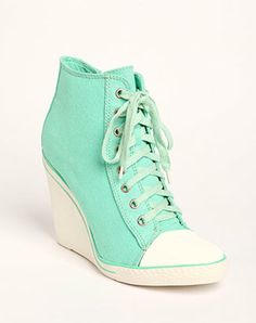 EpicStep Women's Canvas High Top Wedges High Heels Casual ...