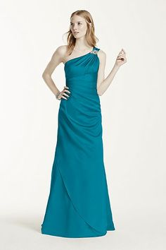 One Shoulder Bridesmaid Dress with Details  0515333fa75e