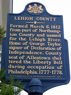 Lehigh County Pa. sign.