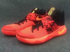 the latest 6869a 875e8 The Nike Kyrie 2 in Bright Crimson is showcased in another detailed gallery.