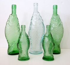 RESERVED for Sheryl Green Glass Fish by TheVintageGiftCloset