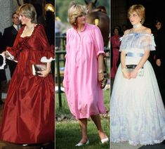 The maternity style of the Princess dresses of lady di in pregnancy - Pesquisa Google