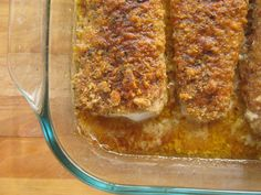 Almond Crusted Mahi Mahi...... olive oil, lemon, almond flour, salt, pepper, mahi mahi, paprika, onion powder, oregano, thyme