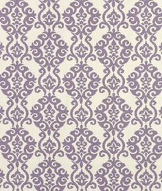 "Waverly Luminary Lilac Fabric - Material: 100% Cotton Width: 54""   Horizontal Repeat: 4.5""   Vertical Repeat: 9"" Country of Origin: U.S.A.  Collection: Modern Essentials Fabric Care: Dry Cleaning Recommended  $15.15 per yard   (1 -9 yaeds)  Buy more and save"