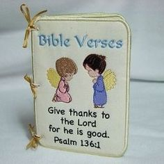 Bible Verses Applique Book - 5x7 | In the Hoop | Machine Embroidery Designs | SWAKembroidery.com