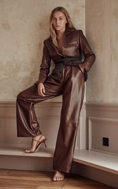 Michael Lo Sordo Trunkshow | Moda Operandi Brown Fashion, Leather Fashion, Look Fashion, Fashion Brand, Autumn Fashion, Fashion Outfits, Casual Outfits, Girly Outfits, Leather Pants Outfit
