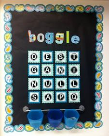 Create●Teach●Share: Boggle Board w/ Printable!!!    Love this idea!! I have the real Boggle but this is better!